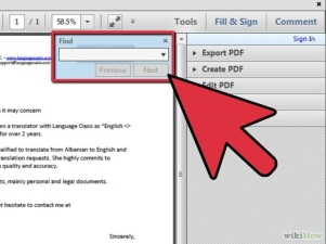 how to search a word in pdf file